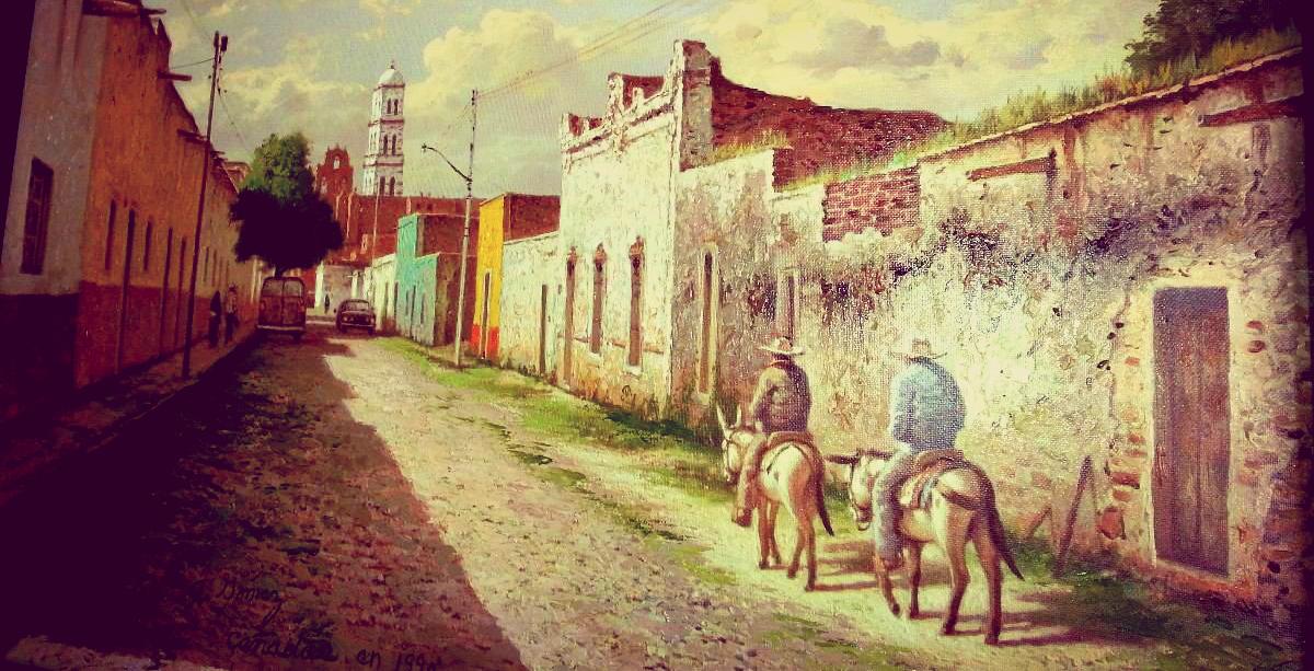 """""""Pueblo en Los Altos de Jalisco"""" Anónimo 1990. http://articulo.mercadolibre.com.mx/MLM-477247206-pueblo-en-los-altos-de-jalisco-ano-1990-_JM#redirectedFromParent"""
